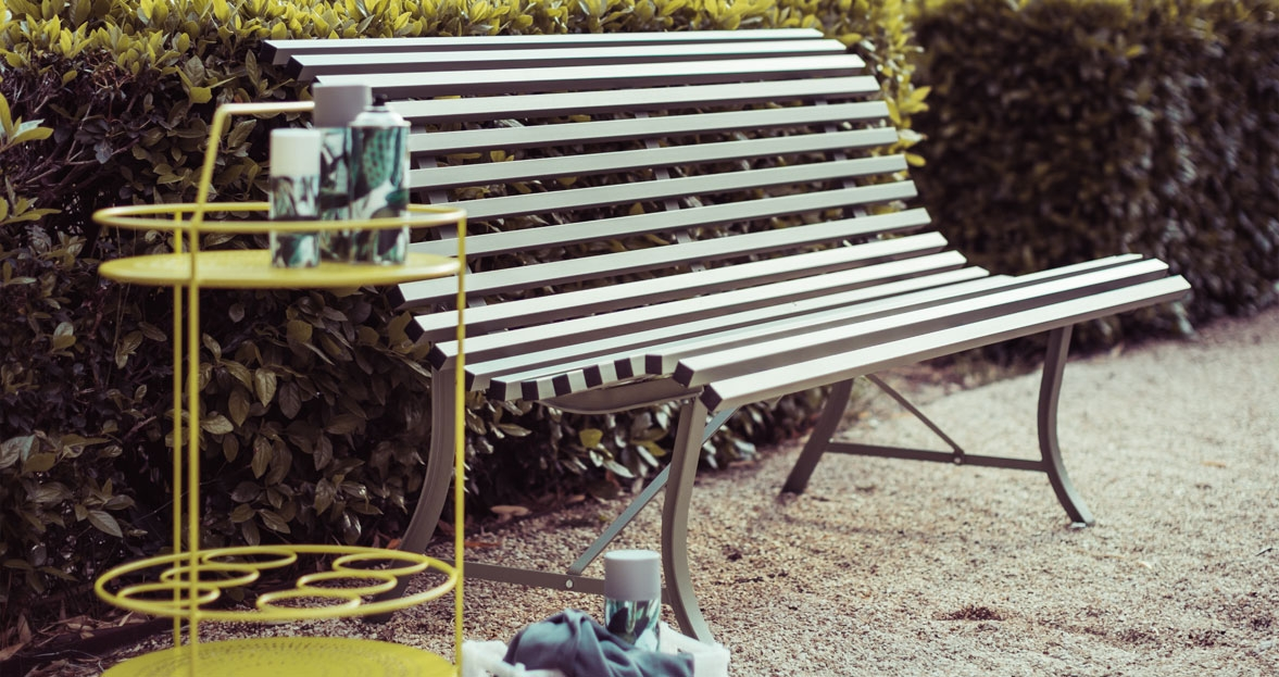 Fermob louisiane bank 200 cm - Banc de jardin metal ...